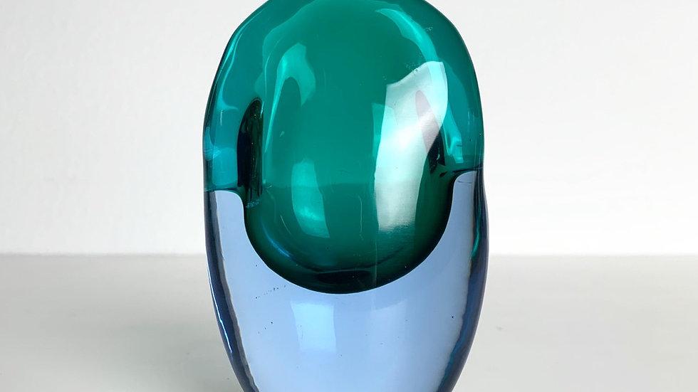 Flavio Poli Miniature Valva Vase Seguso Vetri d'Arte 1950s