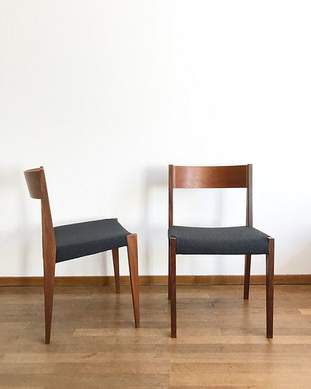 Set of Four Pia Chairs by Poul Cadovius 1960s
