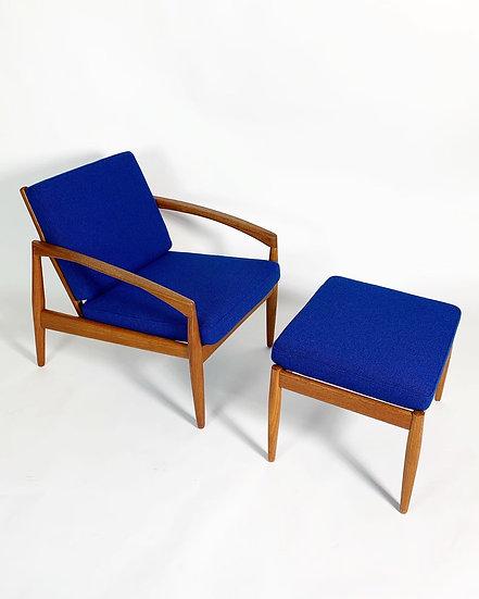Kai Kristiansen Paper Knife Lounge Chair & Ottoman 1960s
