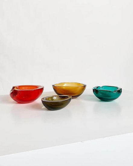 Cenedese Murano Glass Ashtrays 1960s