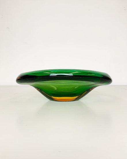 Flavio Poli Bowl Seguso Vetri D'Arte Sommerso Glass 60s