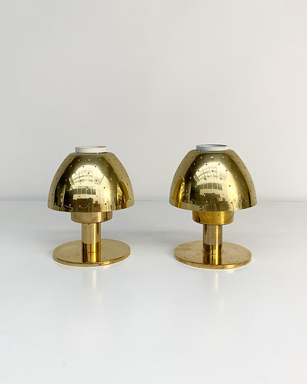 Hans-Agne Jakobsson Candle Holders Lotta Brass 1960s