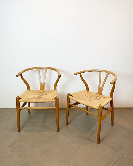 Pair of Hans Wegner Wishbone Chairs Carl Hansen & Son