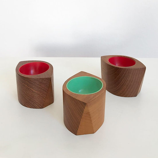 Three Egg Cups Sigvard Nilsson for Söwe Konst 1950s