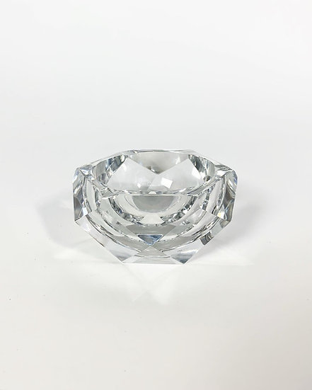 Val Saint Lambert Crystal Glass Ashtray Karel 1957