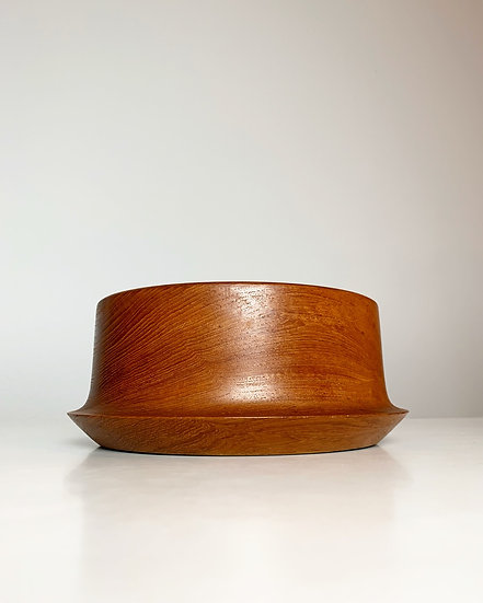 Danish Teak Bowl Hand Turned 1960s