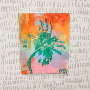 Tie-Dye Rainbow Clover, Canvas DIY