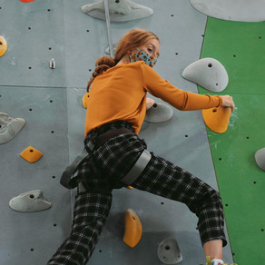 Climbing High At Triangle Rock Club