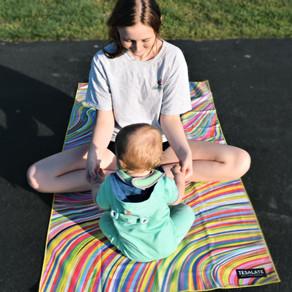 Bright, Vibrant, & Sand-free, Tesalate Towels