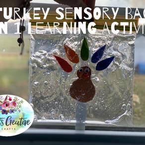 Turkey Sensory Bag, 2 in 1 Learning Activity