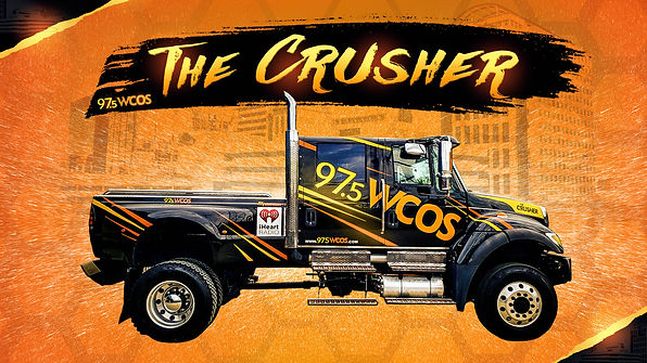 97.5 WCOS The Crusher Graphic