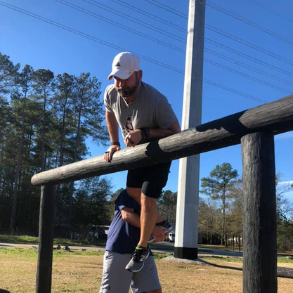 Over Under Logs Obstacle at That's Right Fitness Columbia, SC