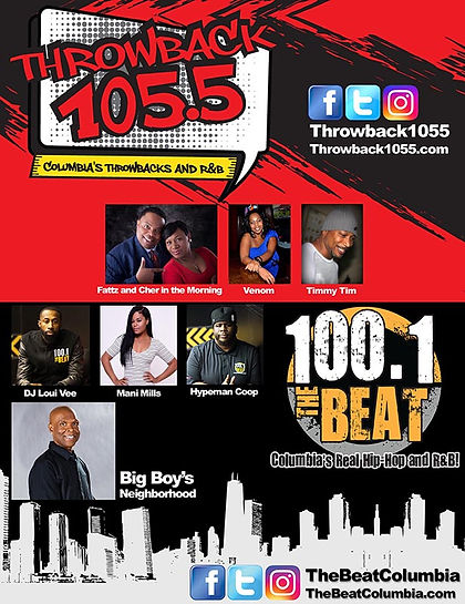Throwback 105.5 and 100.1 The Beat Columbia, SC