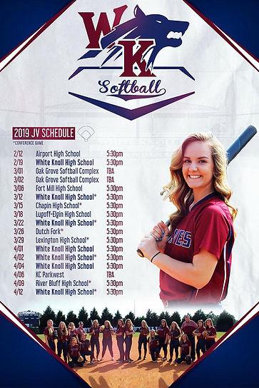 White Knoll High School Softball Poster