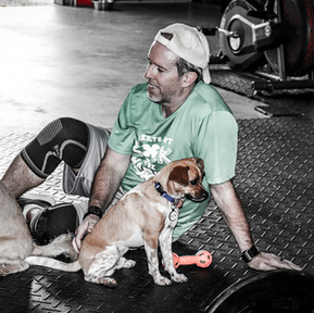 Bryan with Gym Dogs