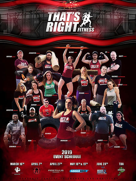 That's Right Fitness Members Poster