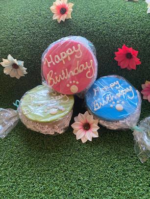 Peanut Butter Birthday Cakes