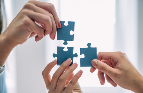 puzzle, hände
