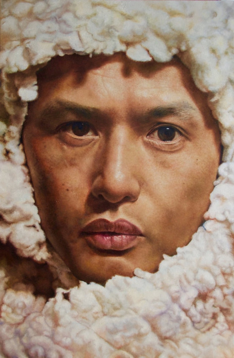 Self-portrait in sherpa