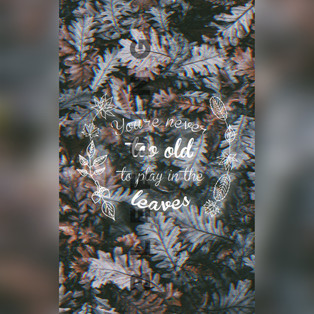 Play in the leaves Card — $1.10