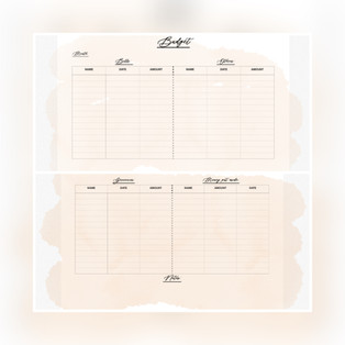 Buget Tracker Pastel 3 — $2