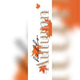 Hello autumn bookmark — $0.23