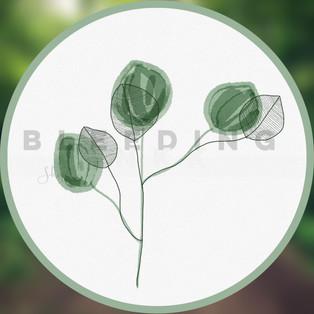Green Pastel Flower Sticker — $0.10