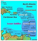 Lesser Antilles Zones