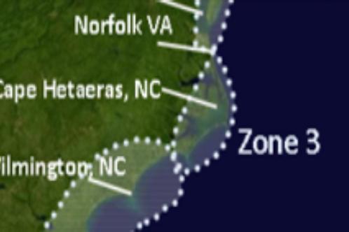 Zone 3 Norfolk Virginia and Eastern North Carolina