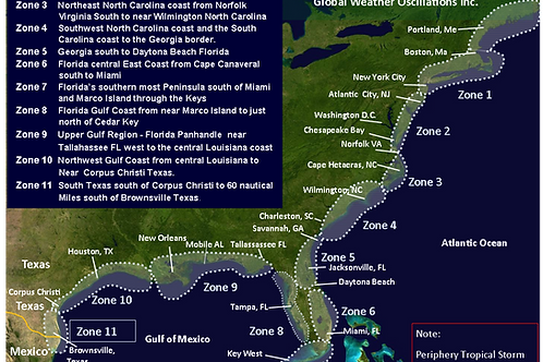 2015 United States Zones - 11 Zones and Hot Spots