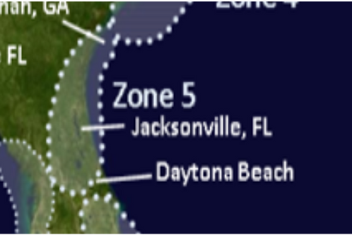 Zone 5 Georgia to Daytona Beach Florida