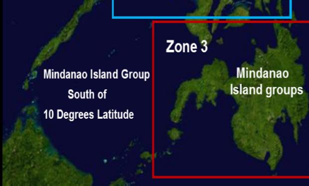 Zone 3 Mindanao Islands 2015