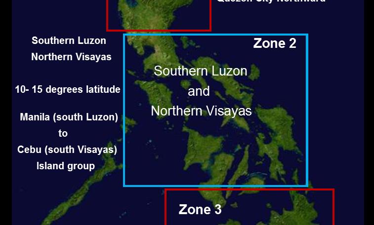 2015-2016  Philippine Island Groups - all 3 Zones