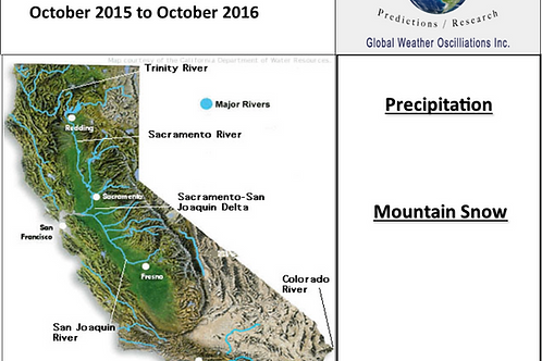 California Precipitation 2015 through 2018