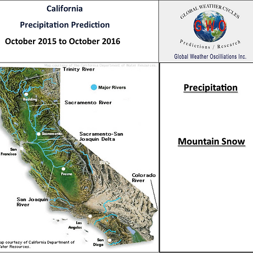 California Precipitation 2015 through 2018