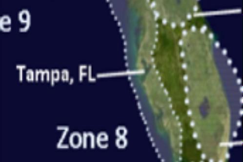 Zone 8 Florida West Coast above Marco Island