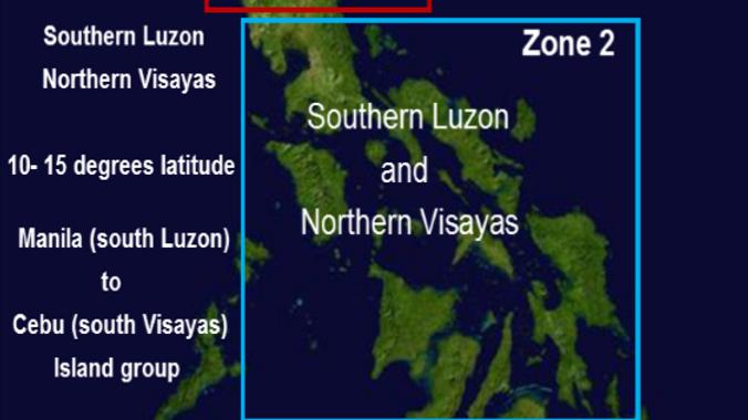 Zone 2 Visayas Islands 2015