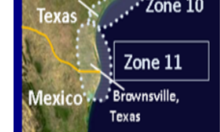 Zone 11 South Texas, Corpus Christi to Brownsville