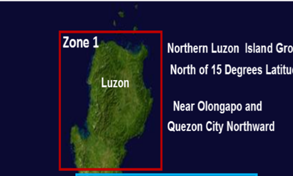 Zone 1       Luzon Islands 2015