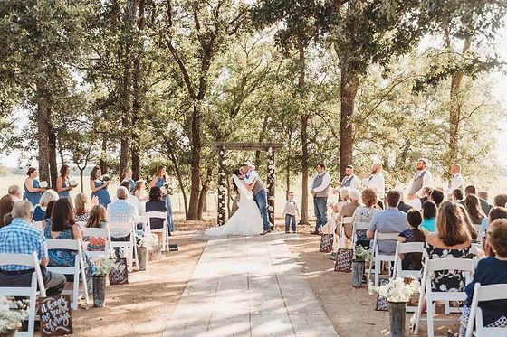 Central Texas Wedding - Outdoor Ceremony