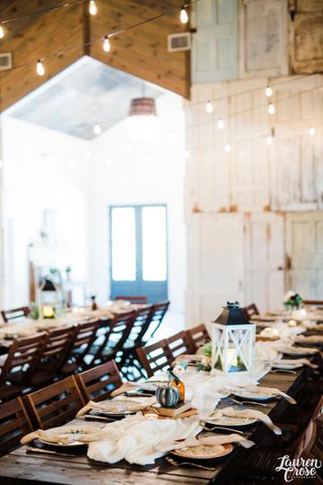 Central Texas Wedding Venue - Reception