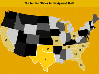 South Carolina listed as #6 in the Country for equipment theft from construction sites.