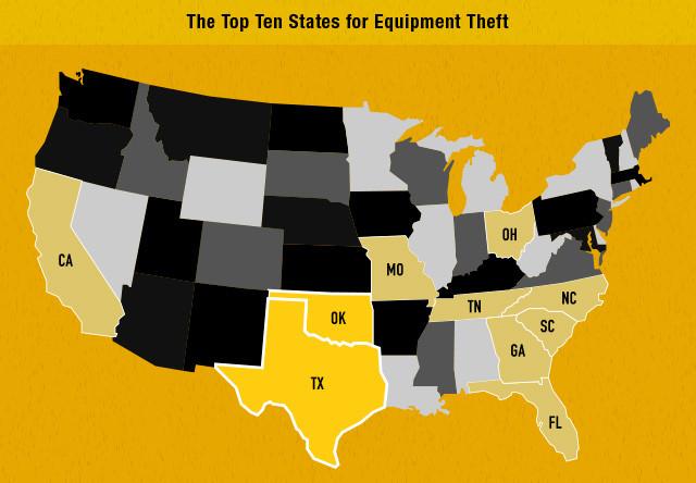 Eqyuipment theft in South Carolina