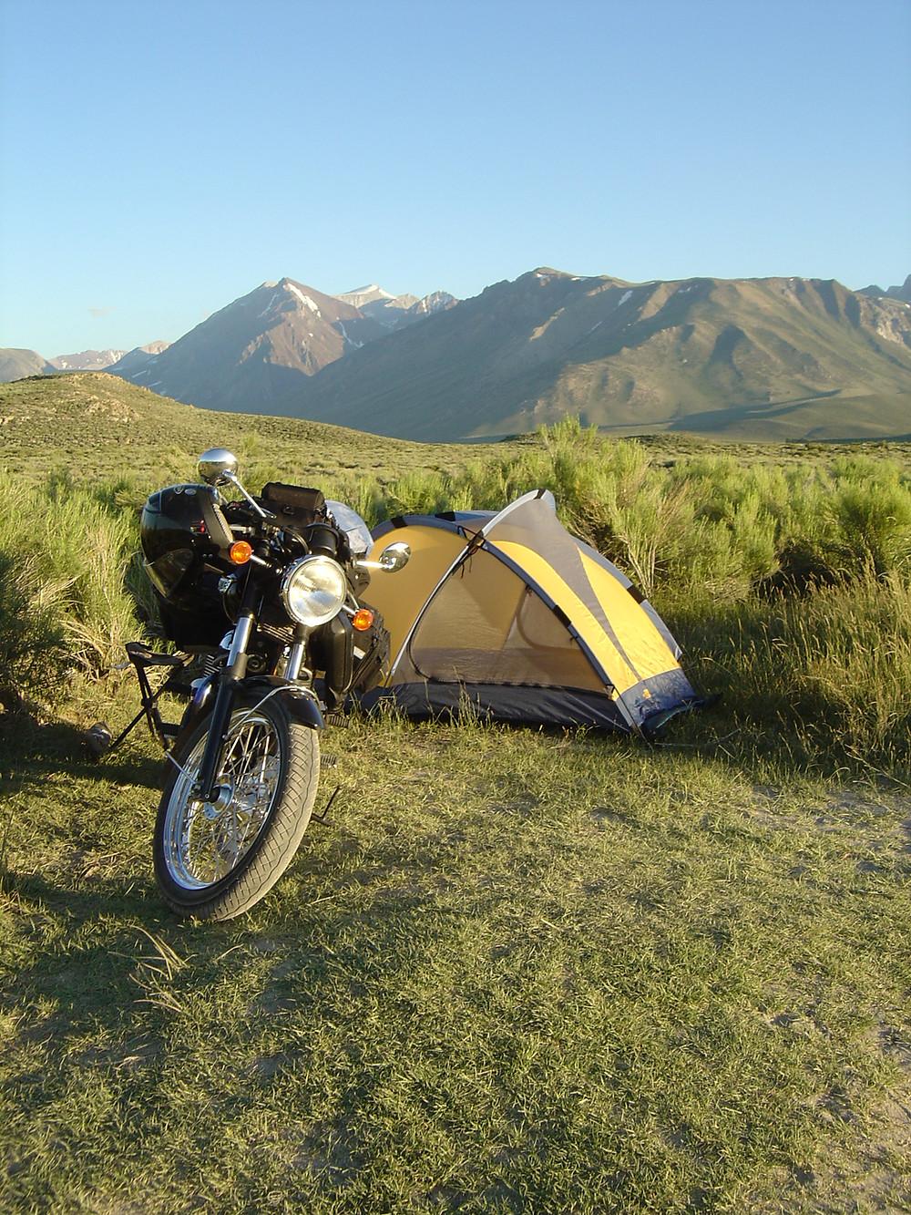 Sean moto camping