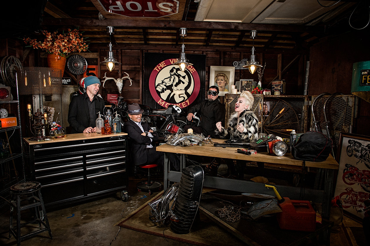 SHASTA SMITH'S VINTAGE MONKEY OFFERS EXPERT SERVICE   REPAIR   WEARS   SOUL   MOTORCYCLE CAFÉ IN SACRAMENTO, CALIFORNIA