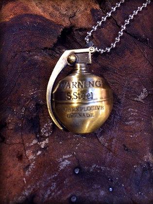 Vintage Grenade Necklace
