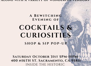 Cocktails and Curiosities! October 31st