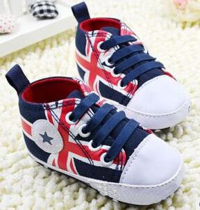 Union Jack Baby Shoes - Blue
