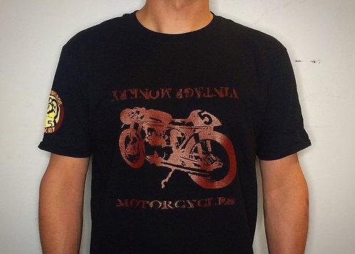 Vintage Monkey Red Motorcycle - Mens