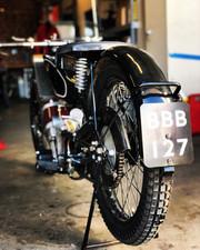 Antique Scott Motorcycle